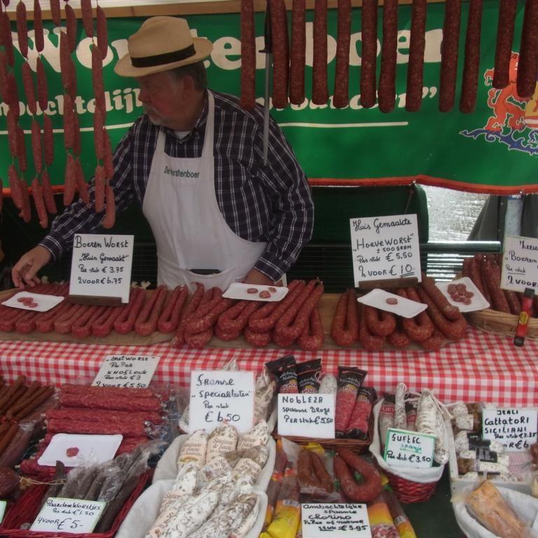 Wochenmarkt in Breskens: Jeden Donnerstag