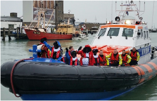 Sinterklaas und Zwarte Piet in Breskens