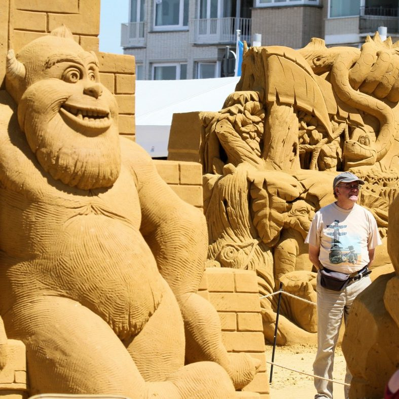 Hollywood-Stars aus Sand: Sandskulpturen-Festival Oostende