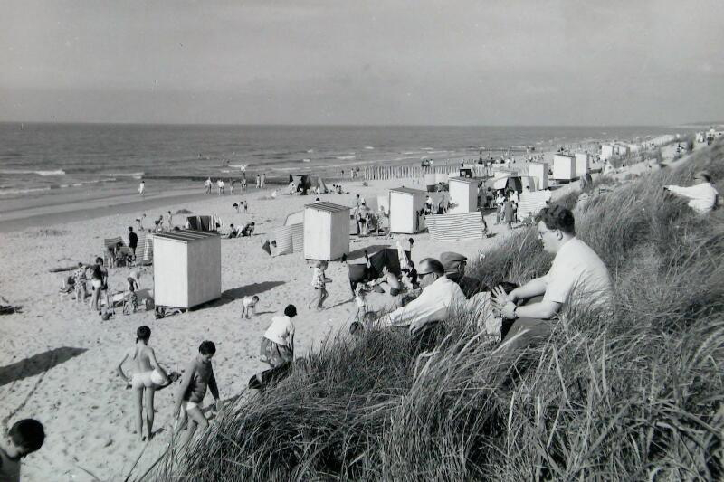 Strandsituation Cadzand-Bad um 1968
