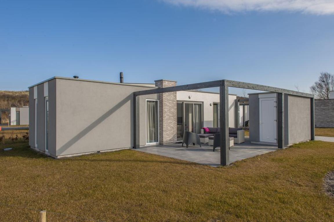 """Ferienpark """"Zeebad"""" Breskens: Lodge Typ Luxe 4A mit 2 Badezimmern und Waschmaschine"""